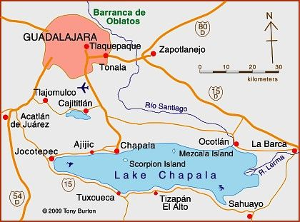 Lake chapala mexico map from pinterest 1