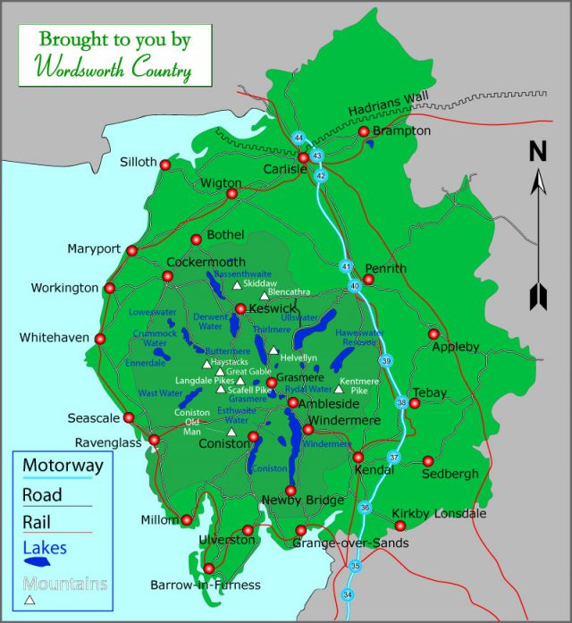 Lake District Map