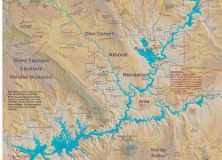 Lake Powell Map: Lake powell map from commons 2