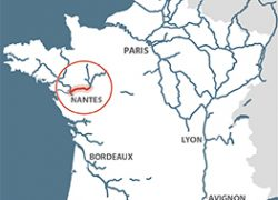 Loire River Map: Loire river map from french waterways 1