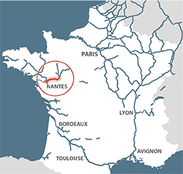 Loire river map from french waterways 1