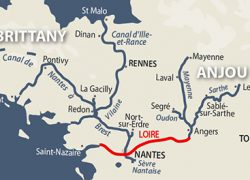 Loire river map from french waterways 3
