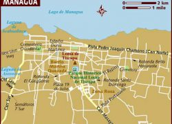 Managua Map: Managua map from lonelyplanet 1