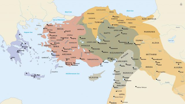 Map of asia minor from luwianstudies 1