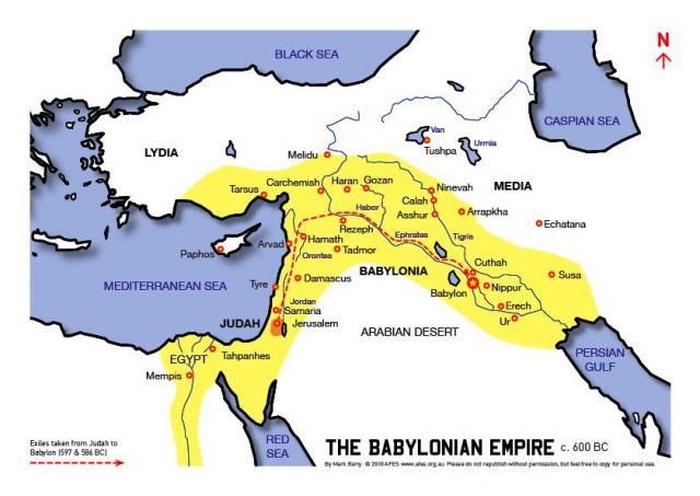 Map of babylonian empire from pinterest 1