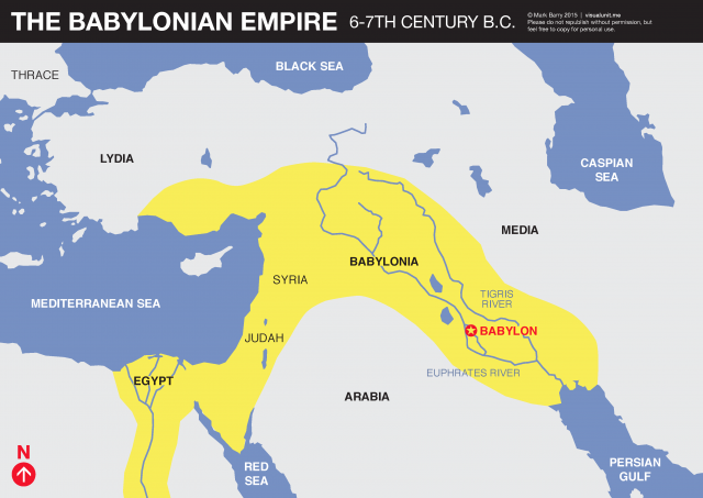 Map Of The Babylonian Empire