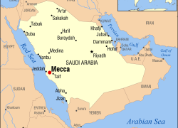 Mecca Map: Mecca map from commons 1