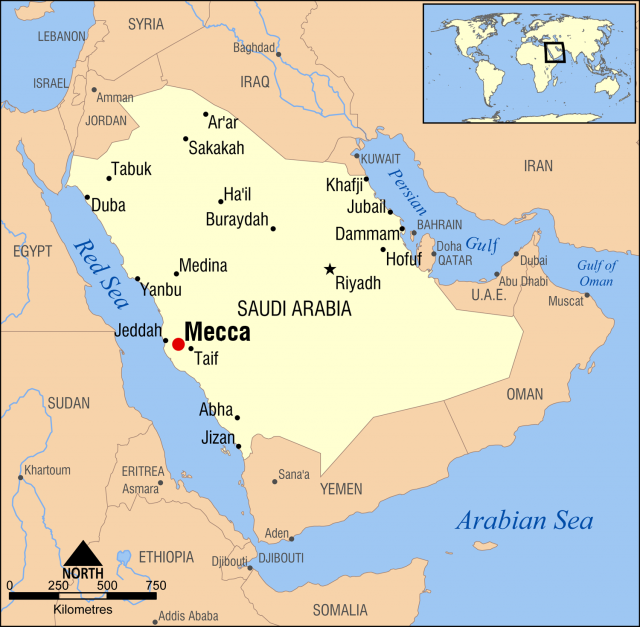 Mecca map from commons 1