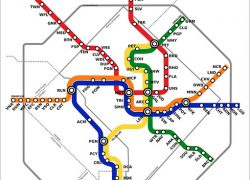 Metro Station Map: Metro station map from ggwash 1