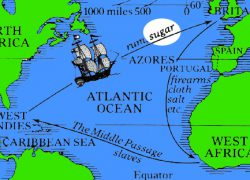 Middle passage map from thinglink 7