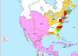 North America 1763 Map: North america 1763 map from pinterest 1