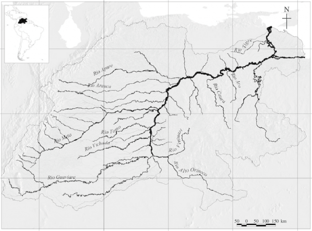 Orinoco river map from researchgate 2