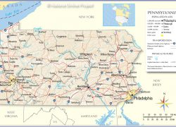 Pennsylvania Map: Pennsylvania map from nationsonline 1