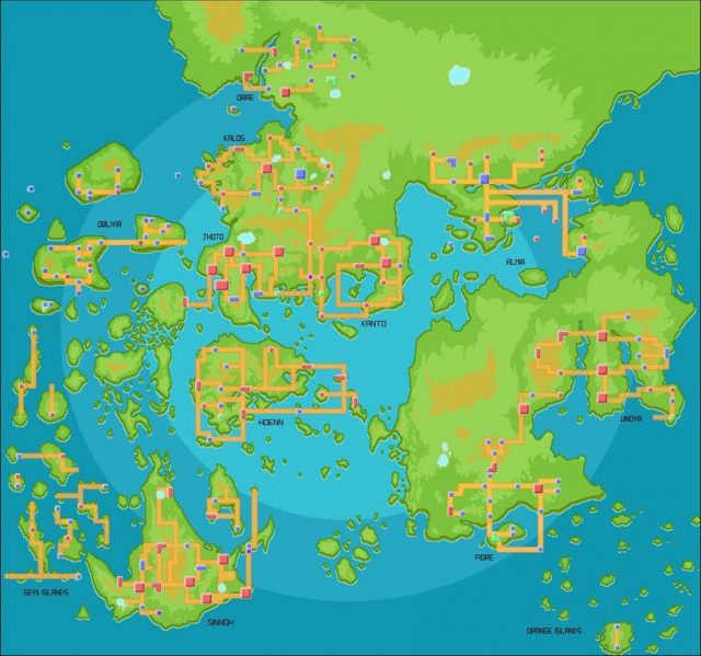 Pokemon World Map