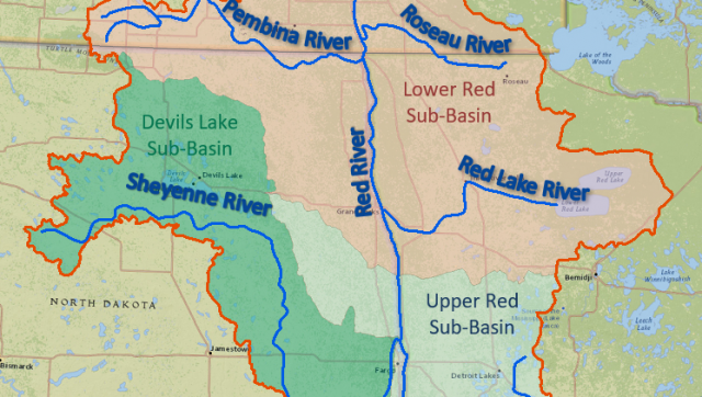 Red River On Map