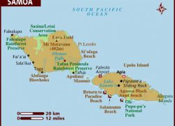 Samoa Map: Samoa map from lonelyplanet 1