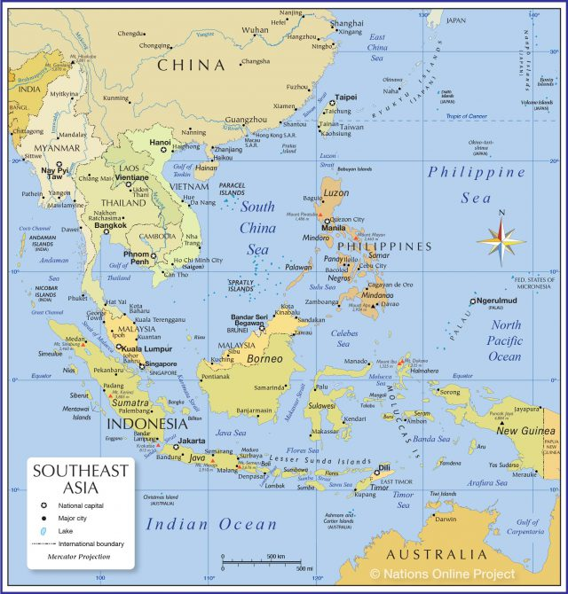 South east asia map from nationsonline 1