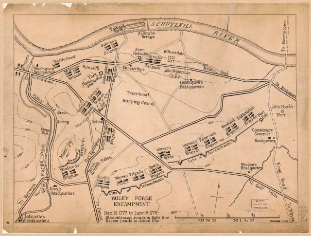 Valley forge map from loc 2