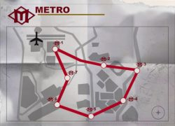 Warzone Metro Stations Map: Warzone metro stations map from millenium 1