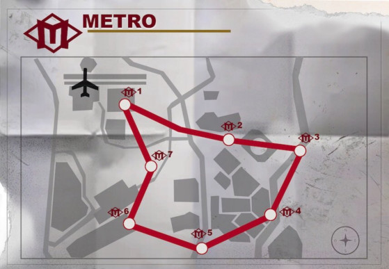 Warzone metro stations map from millenium 1
