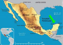Yucatan Peninsula Map: Yucatan peninsula map from id 2