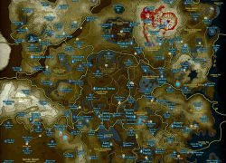 Zelda Breath Of The Wild Map: Zelda breath of the wild map from pinterest 1