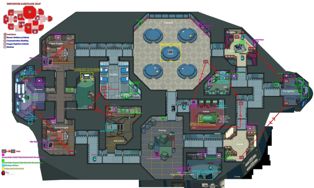 Among us map vents from reddit 2