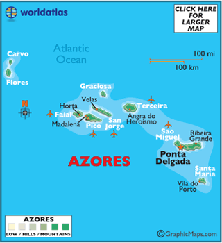 Azores Map