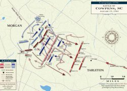 Battle Of Cowpens Map: Battle of cowpens map from revolutionarywar 3