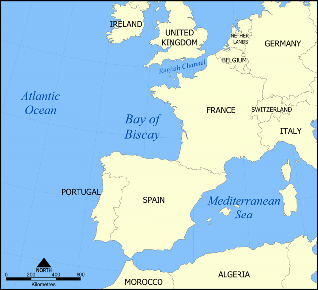 Bay Of Biscay Map
