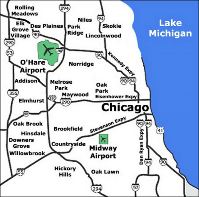 Chicago Airport Map