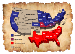 Civil War Map Union And Confederate States: Civil war map union and confederate states from pinterest 1