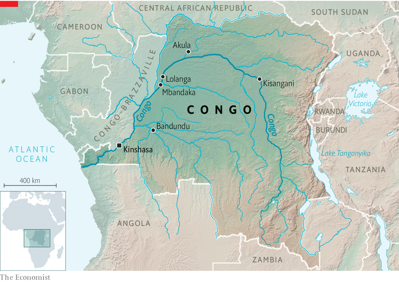 Congo River Africa Map From Economist 4