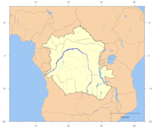 Congo River Africa Map