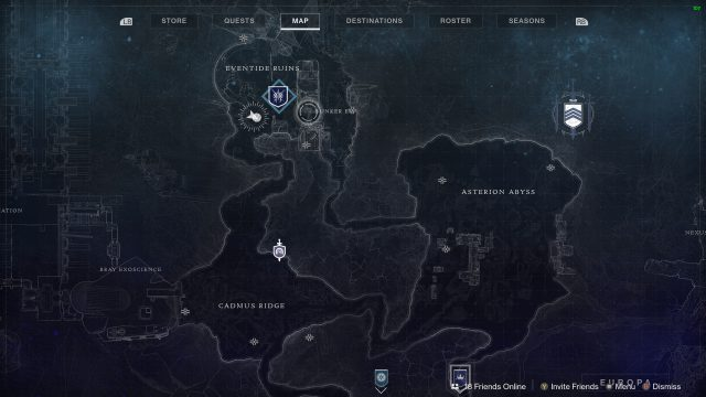 Destiny 2 Entropic Shards Map
