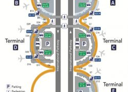 Dfw Airport Map: Dfw airport map from upgradedpoints 1