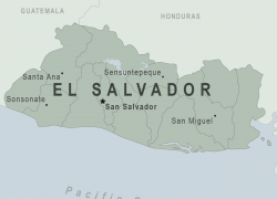 El Salvador Map: El salvador map from wwwnc 1