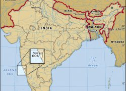 Goa India Map: Goa india map from britannica 1