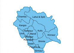 Himachal pradesh map from in 2
