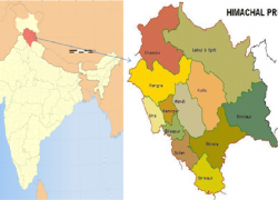 Himachal Pradesh Map: Himachal pradesh map from researchgate 1