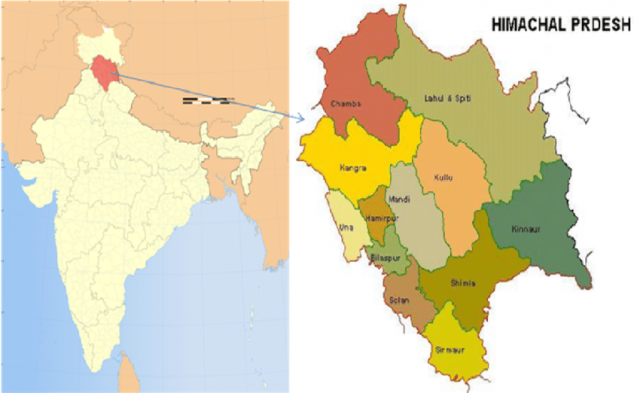 Himachal pradesh map from researchgate 1