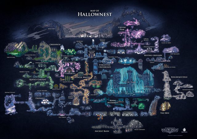 Hollow knight map from hollowknight 1