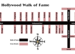 Hollywood walk of fame map from pinterest 9