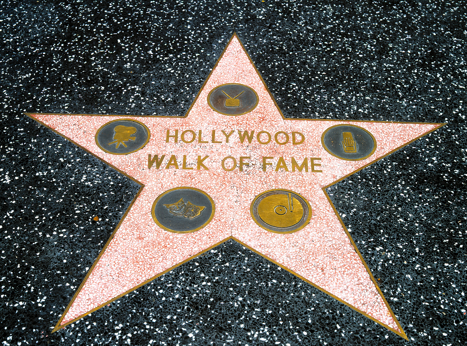 Hollywood Walk Of Fame Map From Thesun 2