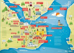 Istanbul on map from istanbultravelguide 7