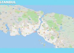 Istanbul on map from mapofeurope 6