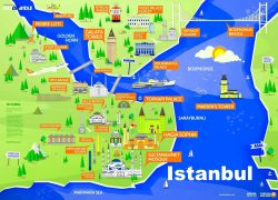 Istanbul on map from pinterest 3