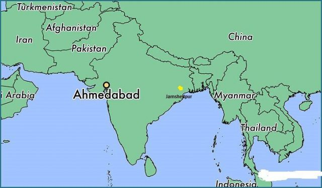 Jamshedpur In India Map