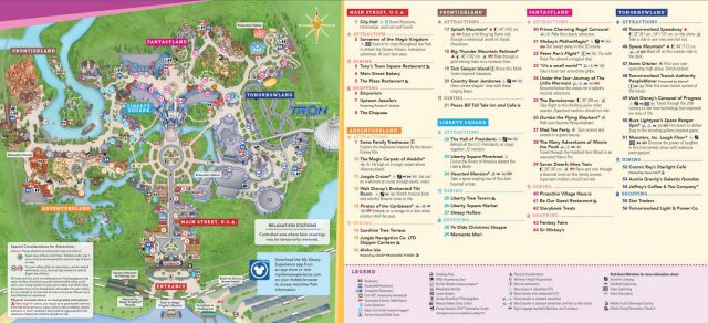 Magic kingdom map from wdwinfo 1