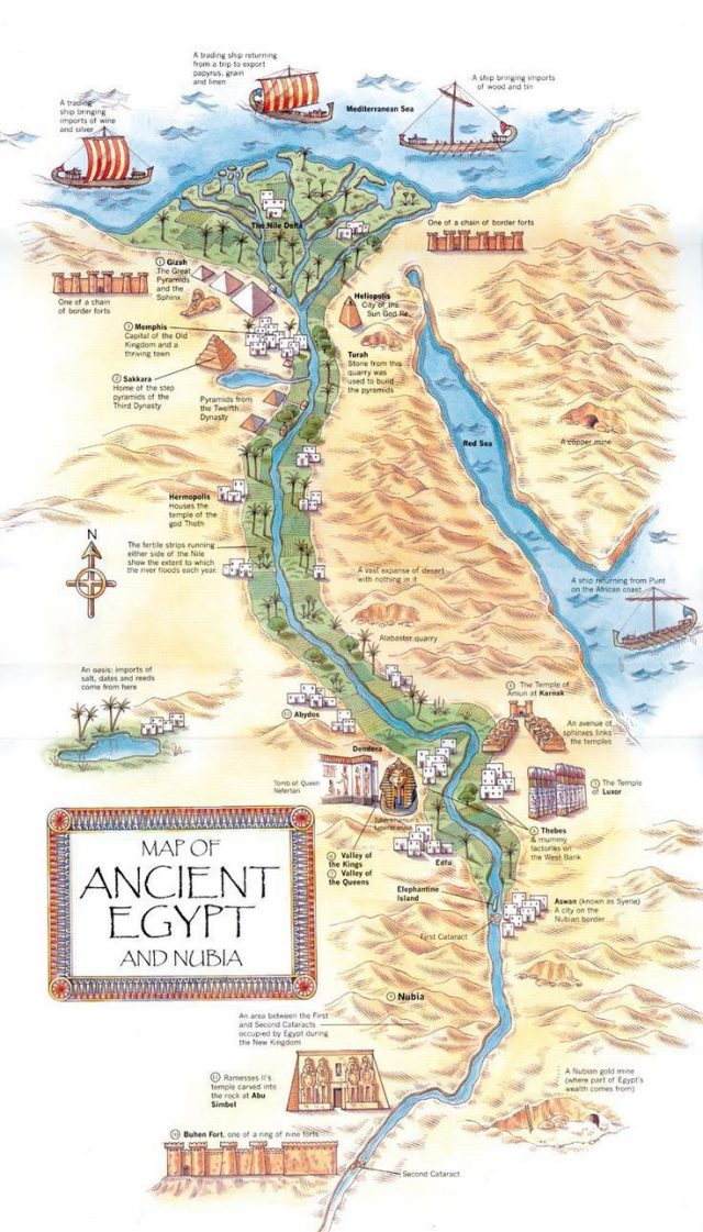 Map of ancient egypt and nubia from pinterest 2